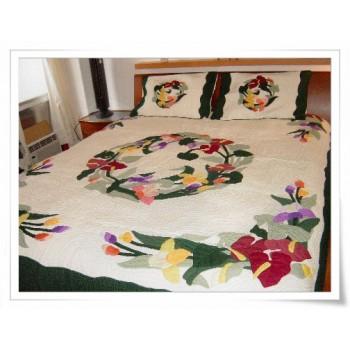 Hawaiian Bedspread-Catleya