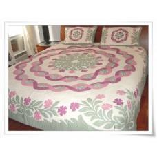 Hawaiian Bedspread-Hibiscus Lei