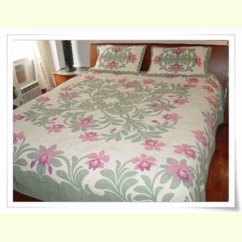 Hawaiian Bedspread-Orchid Paradise 3